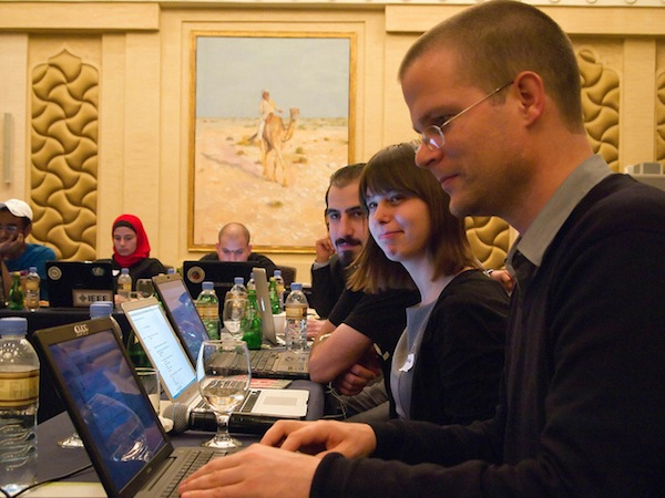 Paul Keller, Michelle Thorne & Bassel Khartabil